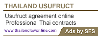 Advert Usufruct for Thailand