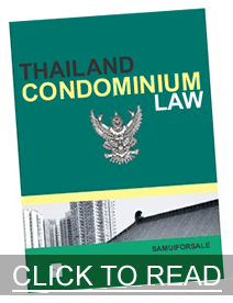Thailand condominium law book