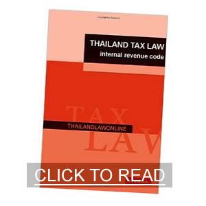 The Thailand Revenue Code (tax law)