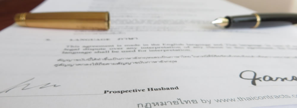 Thailand Prenuptial Agreement - Contract Template