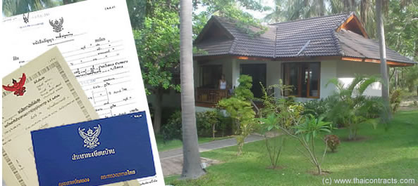 Thai home and official documents related to real estate